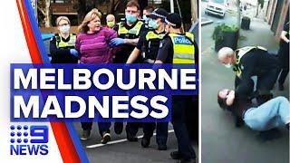 Coronavirus: Anti masker facing prison after kicking an officer | 9 News Australia