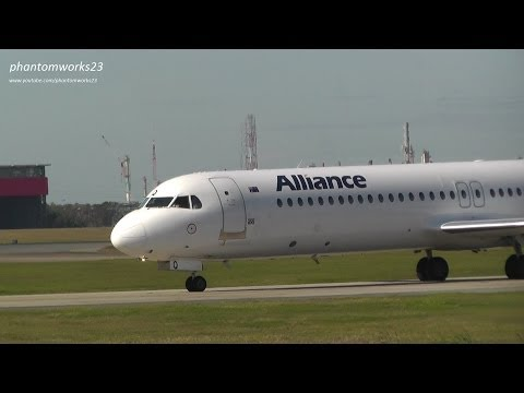 Alliance Airlines Fokker 100 | Take Off RWY 19 | Brisbane Airport