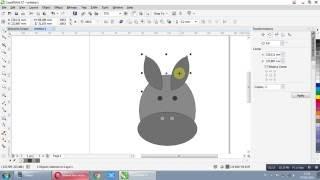 How To Draw Donkey Head With Corel Draw X7