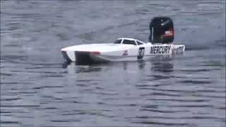 RC Outboard Catamaran