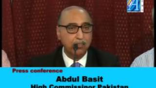 Abdul Basit,High Commissioner of Pakistan Press Conference on Lucknow Report By ASIAN TV NEWS