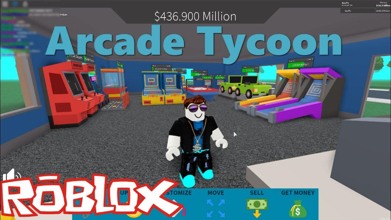 Roblox Fr Je Construit Ma Salle D Arcade Arcade Tycon Youtube
