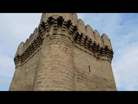 12th century Ramana Tower (Ramana qalasi) near Baku, Azerbaijan
