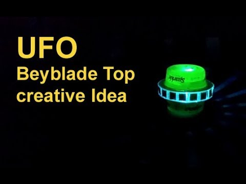 UFO Beyblade Top Creative Idea   How to make a awesome  Ufo Toy at home