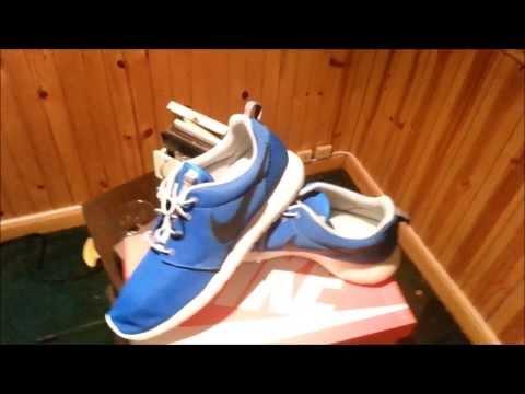 Nike Roshe Run *NEW* Photo Blue Colorway Review/on Feet + Roshe Runs On Feet