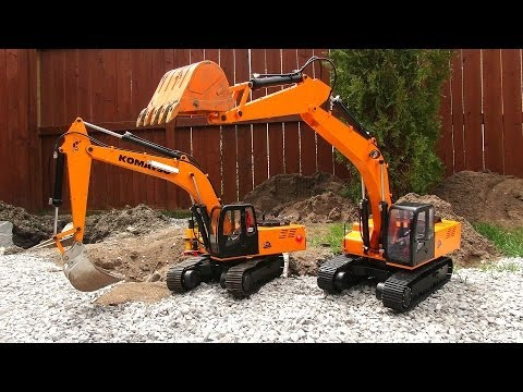 RC ADVENTURES - Two Earth Digger 4200XL Excavators hide Toxic Waste