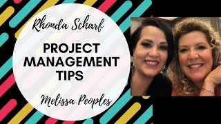 YouTube Live:  Rhonda Scharf & Melissa Peoples