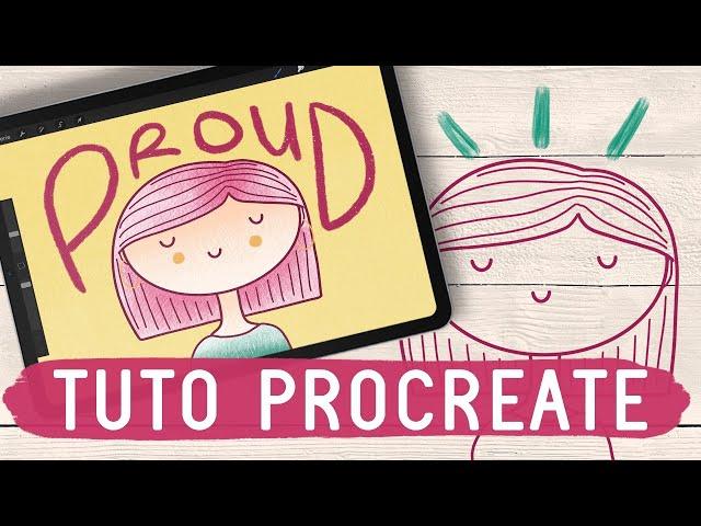 TUTO PROCREATE   Dessine un personnage de type doodle !