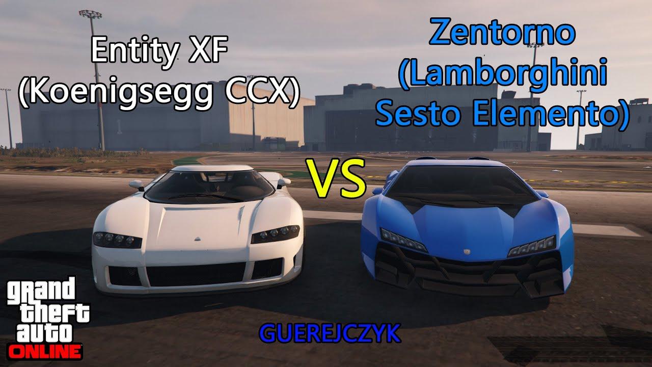 Gta V Entity Xf Koenigsegg Ccx Vs Zentorno Lamborghini