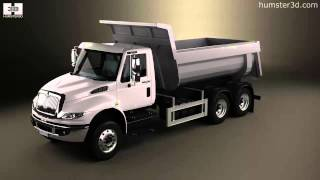 International DuraStar Dump Truck 3axle 2002 by 3D model store Humster3D.com