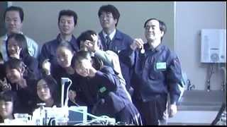 平成12年度 「ふれあい教育」 めっきの実験  大阪市立十三中学校
