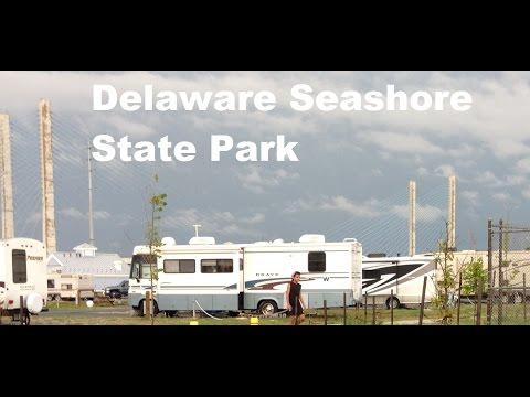 Delaware Seashore State Park RV Camping Rain Sun Beach And Happy Children