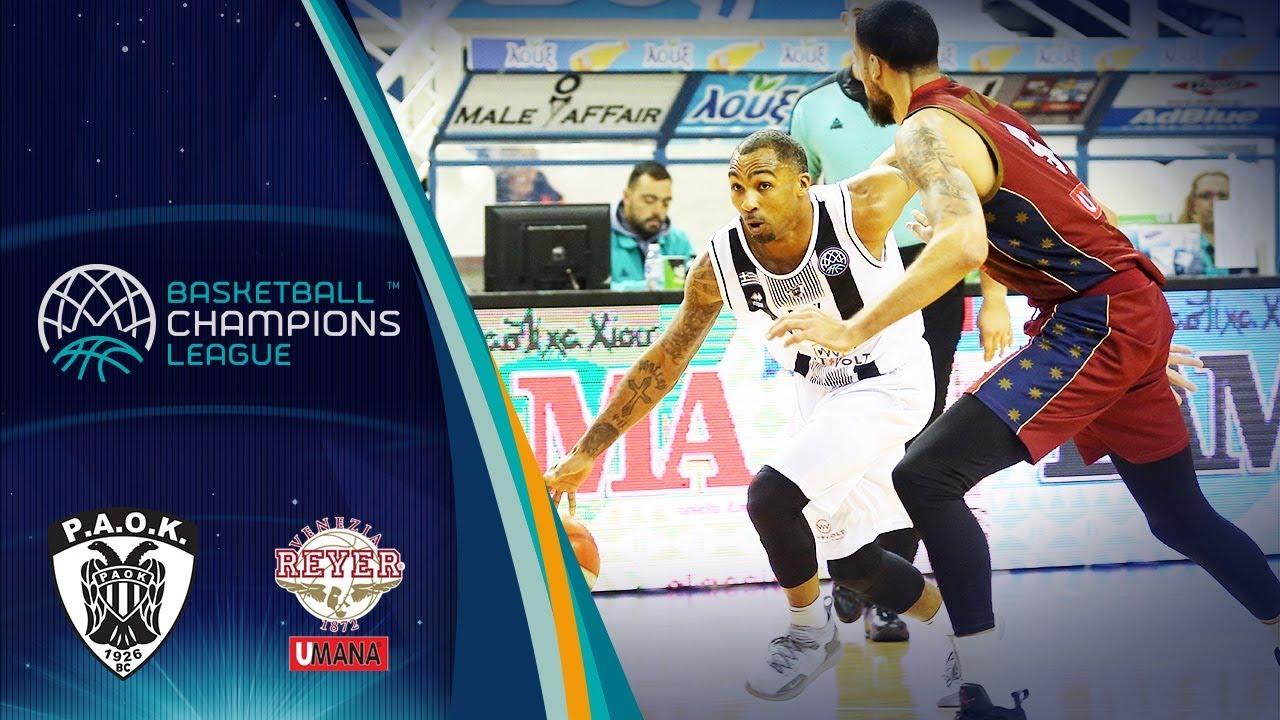 abfb4c0e6c PAOK v Umana Reyer Venezia - Full Game - Basketball Champions League ...