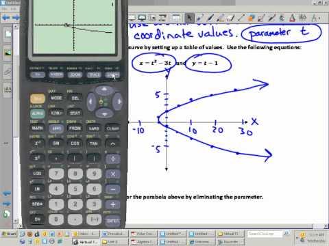 Precalculus Trigonometry Unit 9.8 Notes Parametric Equations.wmv