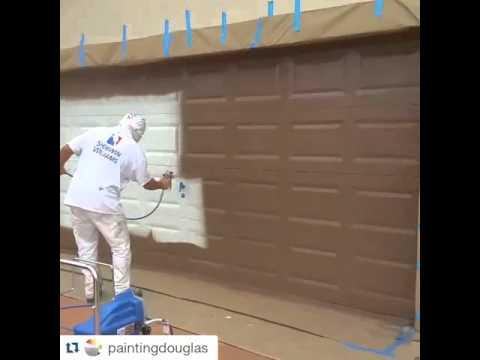 Pintar puerta de garaje con maquina de spray youtube - Pintura de garaje ...