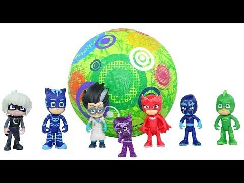 PJ Masks Toys Do Acrobatics Training // Toy Videos For Kids