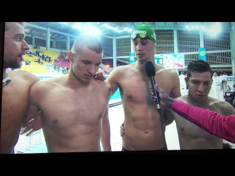 Team SA All Africa Games Post 4x200m Free relay interview