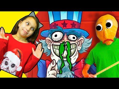 СУПЕР ТРОЛЛИНГ! Troll Face Quest USA Adventure ТРОЛЛИМ ВСЕХ Валеришка Для детей kids children