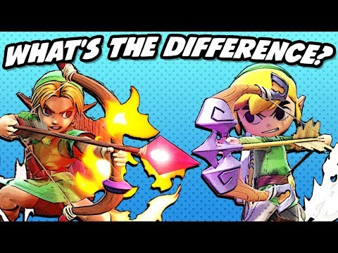 What's The Difference Between Young Link And Toon Link? (SSBU)