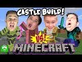 Minecraft Castle Build Challenge! Treasure HUNT Bro Vs. Brothers HobbyKidsGaming