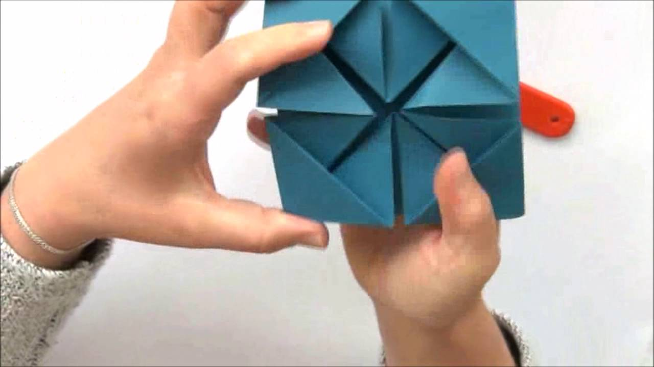 comment faire une carte en origami youtube. Black Bedroom Furniture Sets. Home Design Ideas