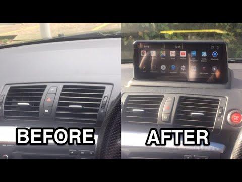 Installing IDrive Sat Nav Android Headunit 10.25 Inch Touchscreen BMW 1 Series E88 E87 E82 E81