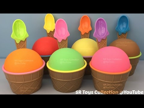 Thumbnail: Play Dough Sparkle Ice Cream Surprise Toys Masha and the Bear Thor Hulk Peppa Pig Littlest Pet Shop