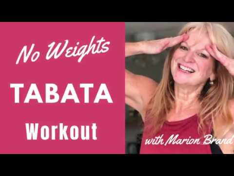 15 Min Tabata Workout No Equipment | Bodyweight Tabata For Over 50