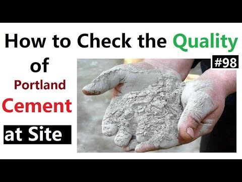 How to check the Quality of Cement at site | Quality control of the material at site