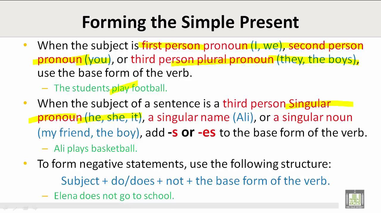 Scientific English C3 L5 Simple Present Tense And Subject Verb