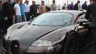 Р.Кадыров на открытии автодрома Крепость Грозная проехался на Bugatti Veyron