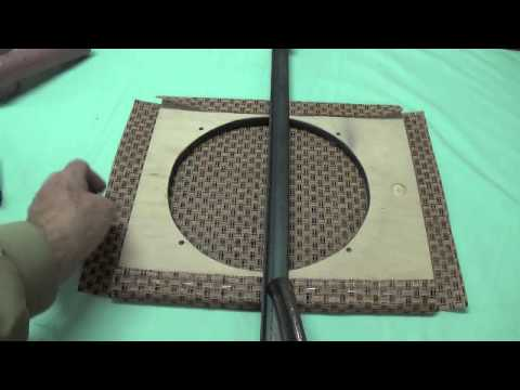How to Cover A Speaker Baffle with Grill Cloth - YouTube