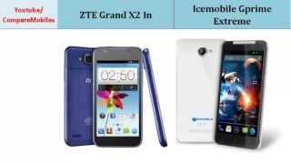 ZTE Grand X2 In OR Icemobile Gprime Extreme, comparison