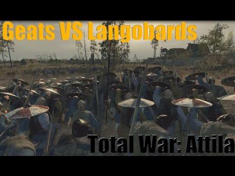 Total War Attila Geats VS Langobards Siege |