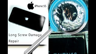 iPhone 5S (A1457) Long Screw Damage Repair Tutorial - Bootloop repair