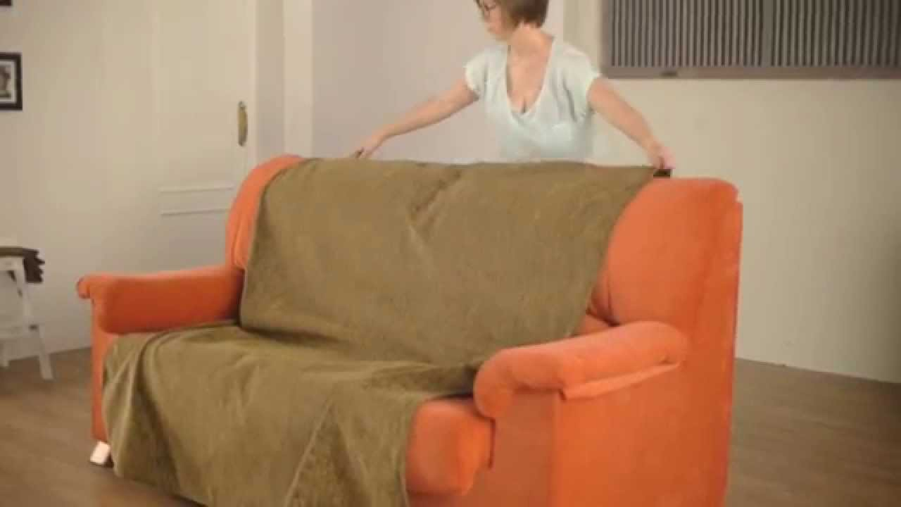 Cubre sof de brazos independientes youtube - Cubre sofa chaise longue ...