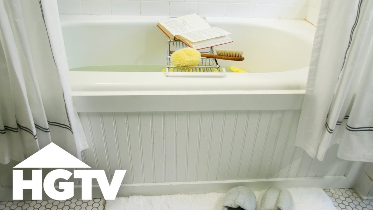 How To Frame Your Tub With Beadboard Hgtv Youtube
