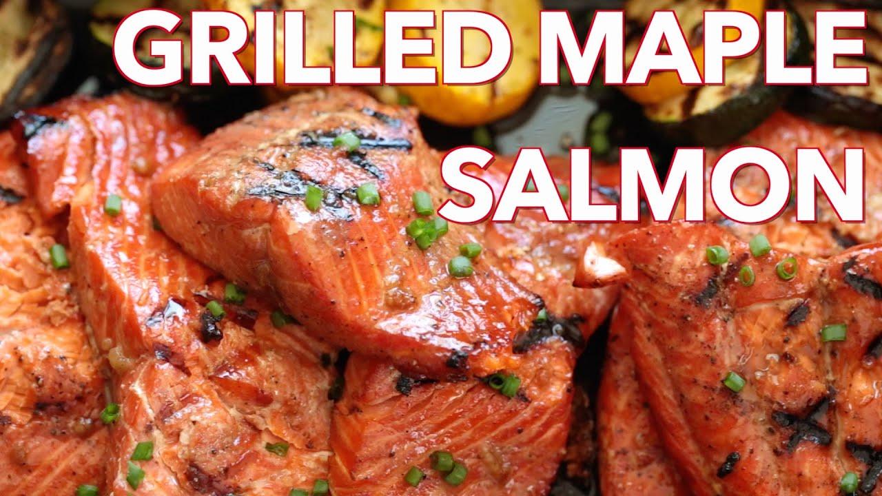 Dinner Grilled Maple Salmon Natasha S Kitchen Youtube