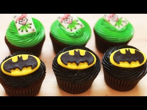 Save HOW TO MAKE BATMAN CUPCAKES - NERDY NUMMIES Images