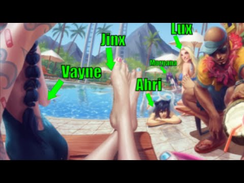 New Pool Party Skins! Vayne, Jinx, Ahri, Lux and Morgana P.Party-Skin will come!