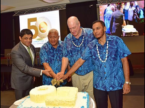 Fijian Prime Minister, officiates the Fiji Development Bank's 50th anniversary celebrations