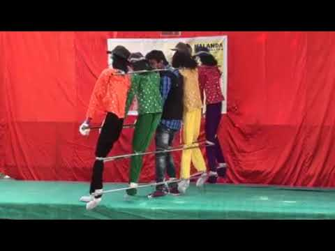 A single person doing a group dance?