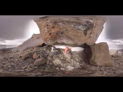 Ornithologist Fabrice Genevois with rare snow petrel chicks (360° VR)