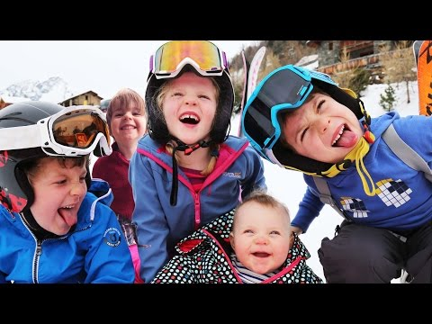 24 hours with 5 kids on a Ski Holiday | Family Travel Vlog