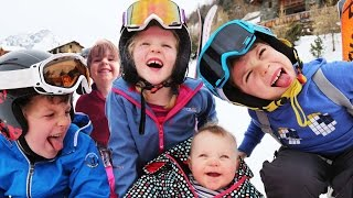 Ski Holidays - 24 hours with 5 kids on a Ski Holiday   Family Travel Vlog