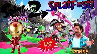 Splatoon 2 | SplatFest | Action vs. Comedy | Live Stream #40 |