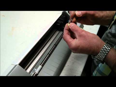 How to replace the cutting strip on a Silhouette Cameo