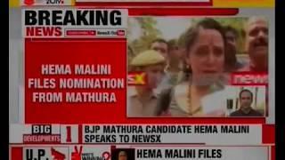 Hema Malini Interview after filing nomination from Mathura, Uttar Pradesh; Lok Sabha Elections 2019