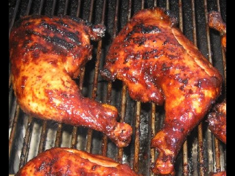 How To Bbq Chicken On Charcoal Youtube