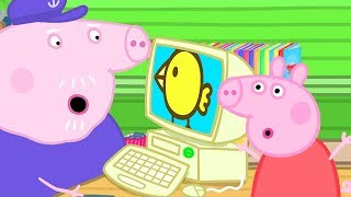 Peppa Pig Official Channel | Peppa Pig Teaches Grandpa Pig How to Use Computers